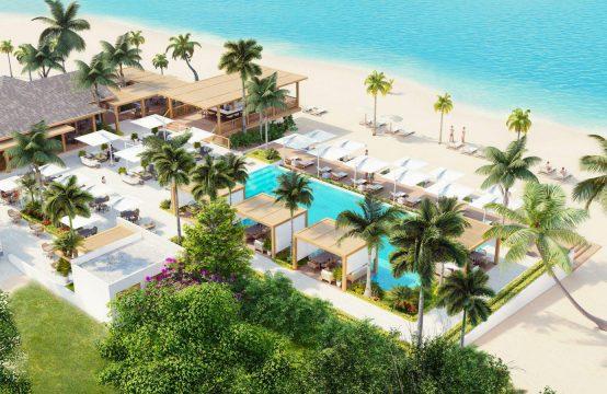 Ekskluzywne dwupokojowe mieszkanie z widokiem na M. Karaibskie przy białej plaży